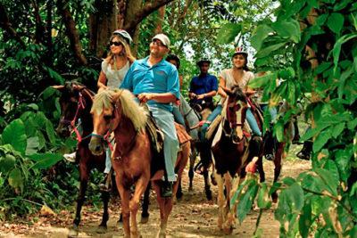 beach and trail horseback ride